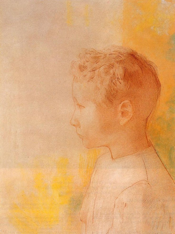 Odilon Redon, French painter and pastelist (1840-1916). 'Portrait of the Son of Robert de Comecy' (c.1898) pastel
