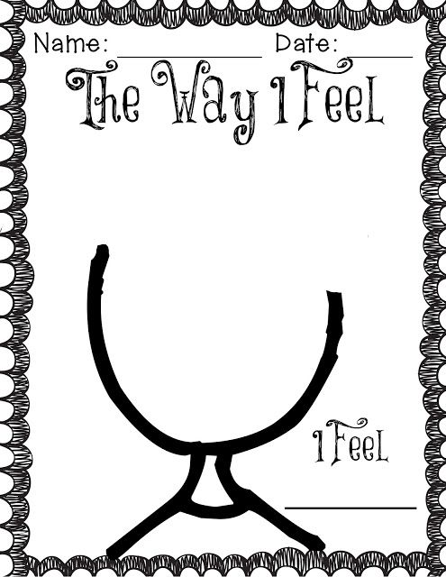 The Way I Feel... Activity- Great for teaching feelings in the moment of a behavior...stop and take a minute to draw your feeling, then reflect back on it.