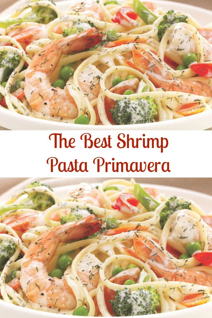 Seafood Shrimp Pasta Primavera Recipe