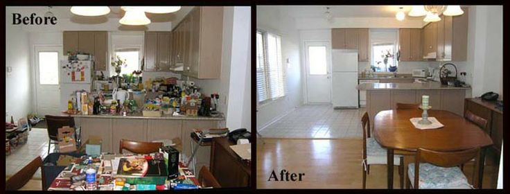 A kitchen should show its best when you sell. If you need it to be spacious again - call me.