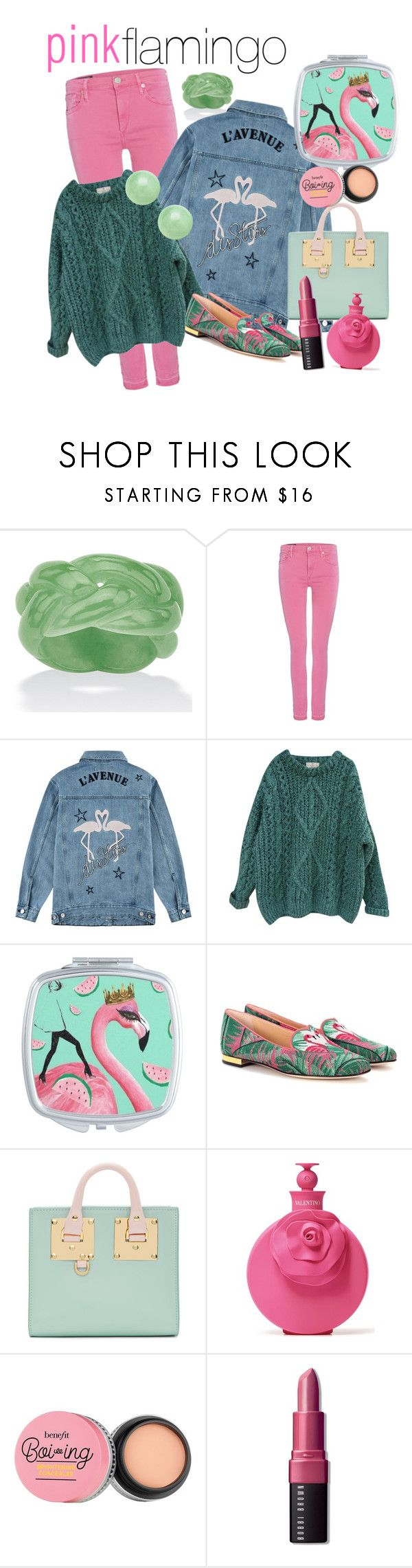 """""""pinkflamingo"""" by mimicu2 ❤ liked on Polyvore featuring Palm Beach Jewelry, True Religion, Être Cécile, Essentiel, Charlotte Olympia, Sophie Hulme, Valentino and Bobbi Brown Cosmetics"""