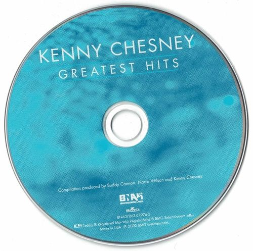 Kenny Chesney Greatest Hits 2000 CD Professionally Cleaned