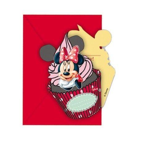Invitaciones para cumpleaños de Minnie  Mouse en tonos rojos #cumpleañosminnie #cumpleminnie #minniemousebirthday #minniebirthday #fiesatminniemouse #fiestaminnie #minniemouseparty #minnieparty #minnierosa #minnieroja #decoracionfiestaminnie #globosminnie #velaminnie