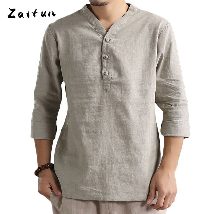 ==> [Free Shipping] Buy Best ZAITUN Men t shirts V Neck Slim Fit Summer Luxury Tee Online with LOWEST Price   32809528362