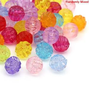 "Image of 100PCs At Random Corrugated Round Acrylic Spacer Beads 12x11mm48""x38"""
