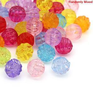 "Image of 100PCs At Random Corrugated Round Acrylic Spacer Beads 12x11mm48""x38"""