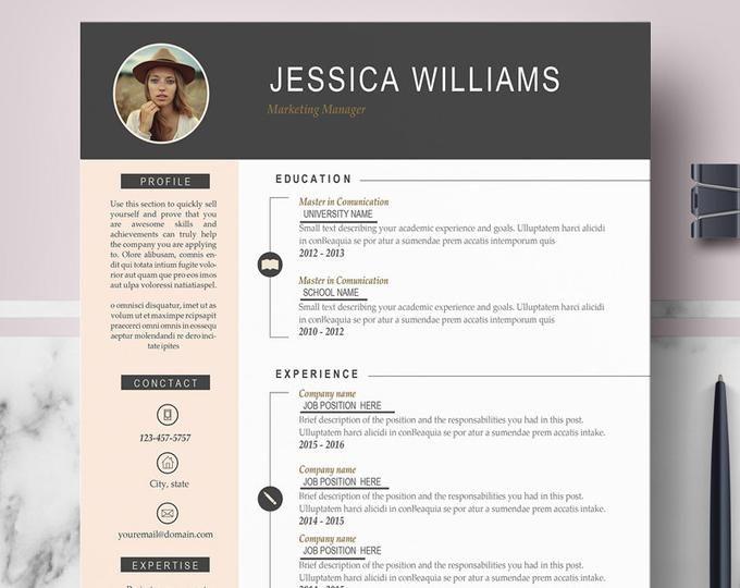Cv Design Creative Cv Resume Template Ms Word Pages Etsy Resume Template Cv Design Cv Template