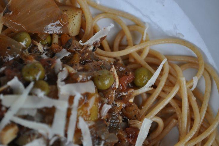 Maltese Pasta with Rabbit Sauce (Maltese Food, Maltese Recipes, Maltese Cuisine)