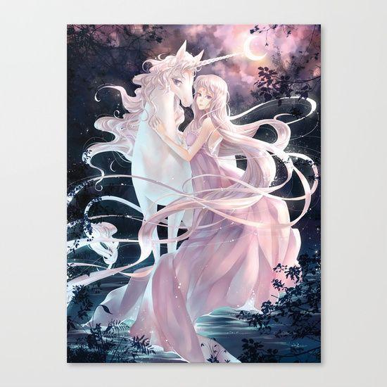 Unicorn Canvas Print by Lüleiya | Society6