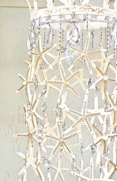 Starfish Chandelier DIY Chandelier. If only my bathroom had a higher ceiling