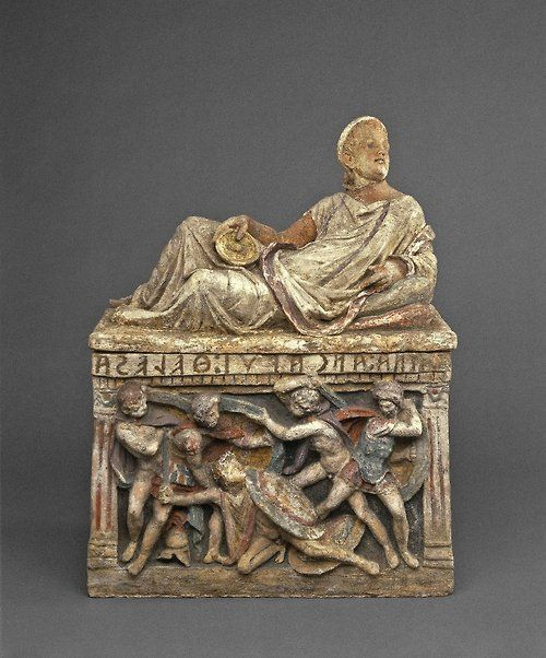 Etruscan Grecian And Roman Wedding Ideas: Cinerary Urn, 150-100 BC, Etruscan (Source: The British