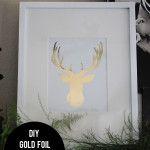 DIY Gold Foil Deer Head Silhouette