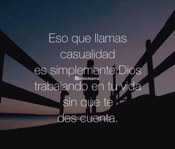 〽️ Eso que llamas casualidad es simplemente Dios trabajando en tu vida sin que te des cuenta.