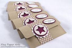 Stampin up, Mini-Adventskalender, Adventskalender to go, Advent calendar, Stanze Mittelgroßer Stern, Medium Star Punch, Christmas, Weihnachten, Verpackung - Fine Paper Arts