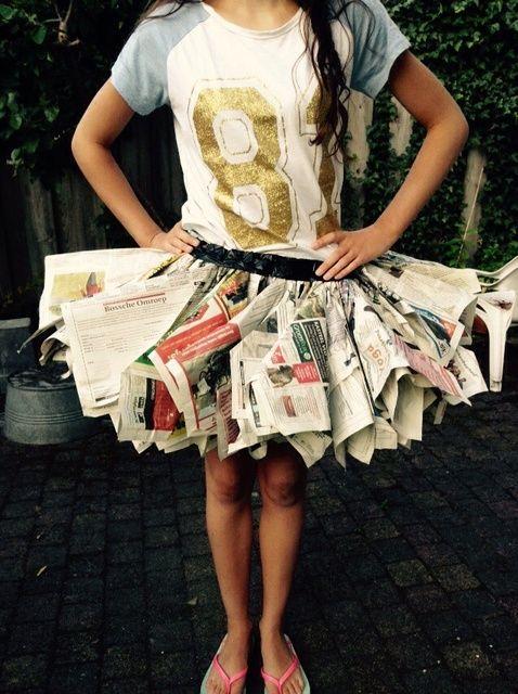How to Make a Newspaper Skirt
