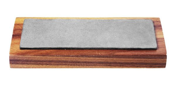 Diamond Knife Sharpener on Pedestal - Fine, 600 grit stone made with an industrial diamond alloy. Set on a walnut block. Sharpens knives, tools and blades with fewer strokes. Made in Carson City, Nevada. (more info) $42.00