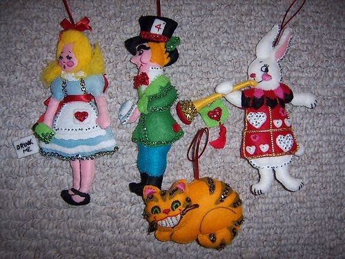 Bucilla kit Alice in Wonderland felt ornaments