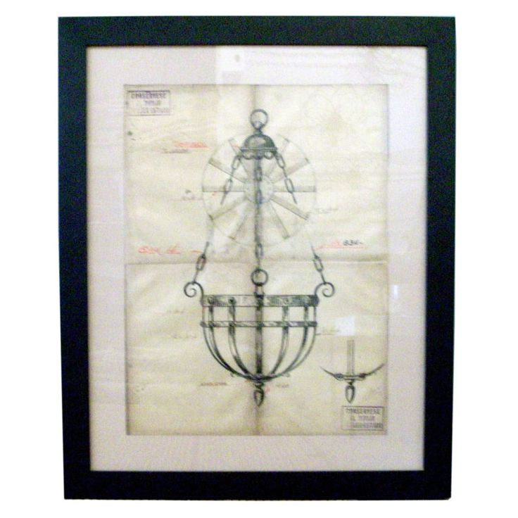 Jose Thenne Working Drawing: Hanging Pendant | 1stdibs.com