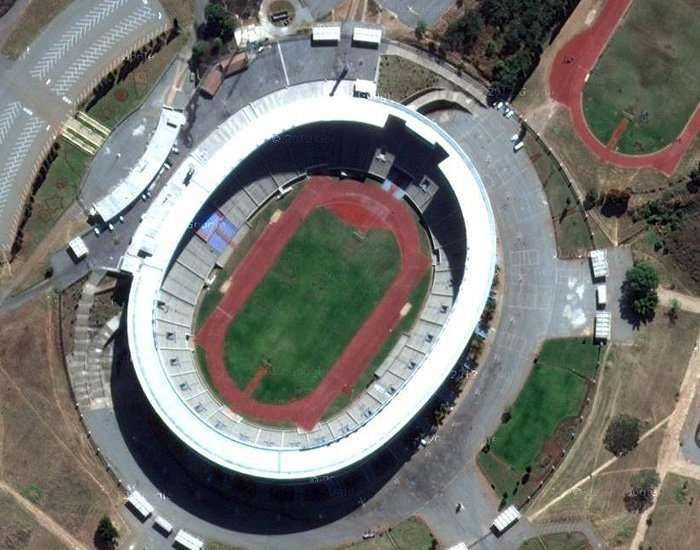 Located In The Sunshine City Of Harare In Zimbabwe The National Sports Stadium Is A Multi Purpose Venue It Is One Of In 2020 Sports Stadium National Sport Stadium
