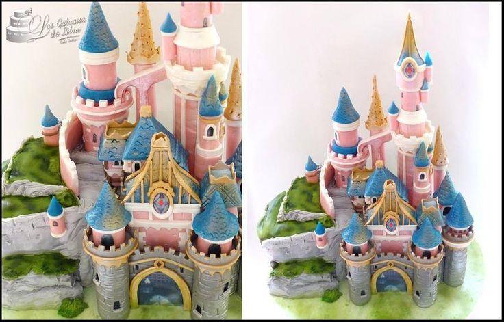 Gâteau Château DisneyLand Paris - LES GATEAUX DE LILOU Cake Design