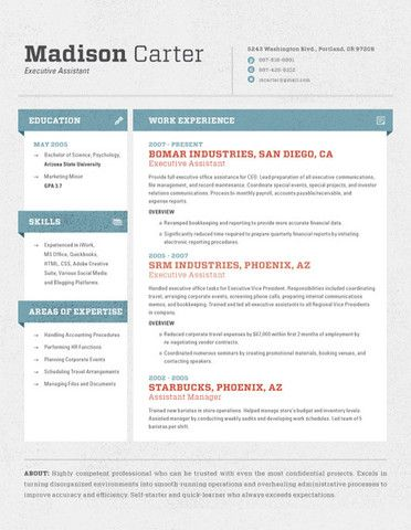 28 Best Images About Resumes For Creative Fields On Pinterest