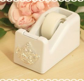 """They actually have a """"shabby chic"""" tape dispenser.  How easy would that be to make!  Glue here I come!"""