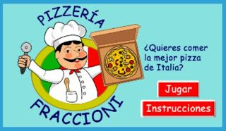 Educación Primaria: Juego con pizza y fracciones