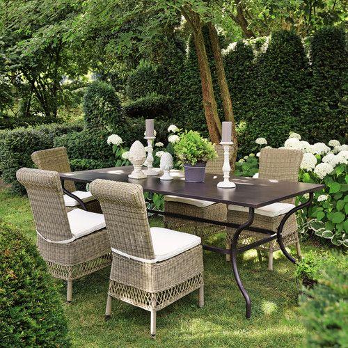 Tavolo marrone da giardino in ferro battuto L 200 cm