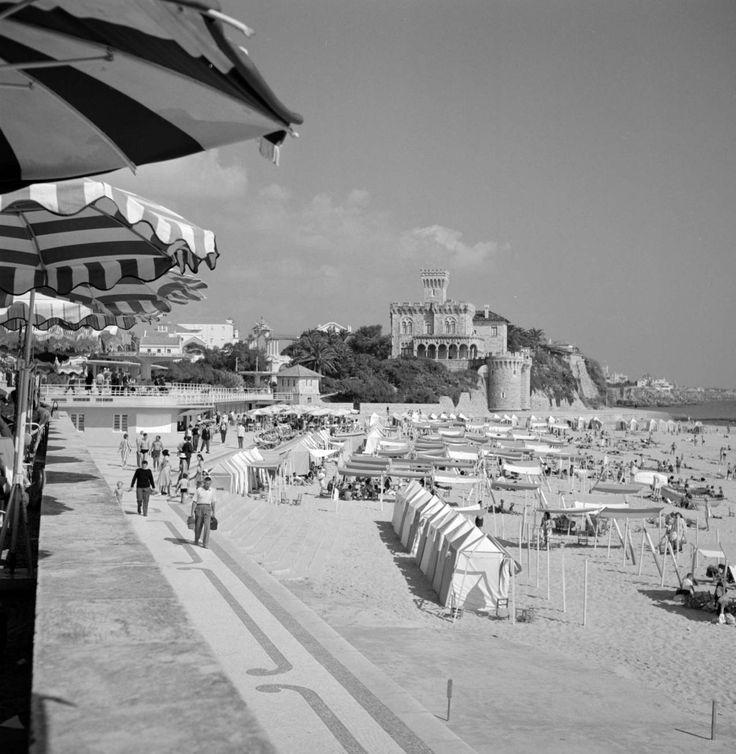 Estoril, praia do Tamariz. Décadas de 50/60