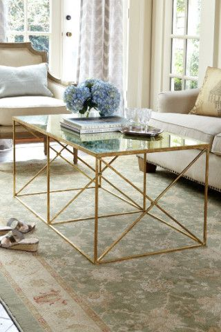 Montparnasse Coffee Table - Provencal Coffee Table, Mirrored Coffee Table | Soft Surroundings