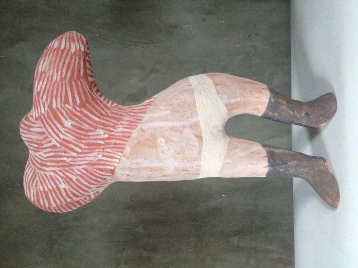 Lost and Found   clay, underglaze   50cm x 37cm x22cm Www.cassiethring.com