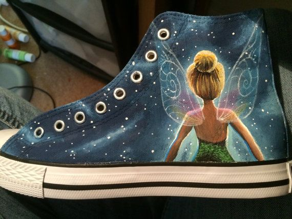 Hey, I found this really awesome Etsy listing at https://www.etsy.com/listing/266399389/custom-painted-tinkerbell-shoes