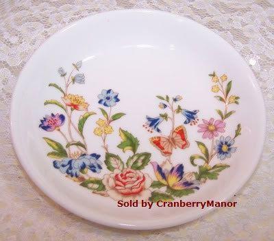 Vintage Aynsley Cottage Garden Coaster by CranberryManor on Etsy, $40.00