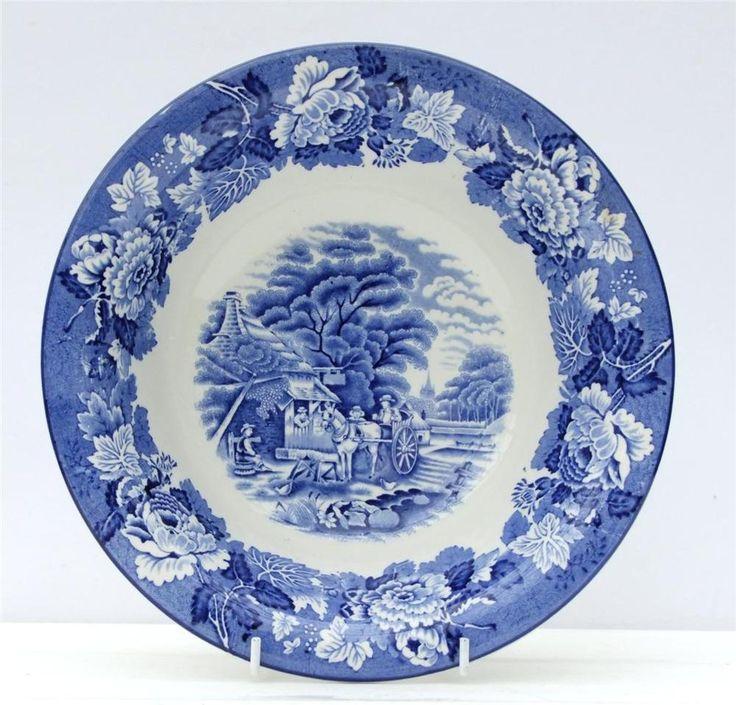 Vintage Woods Ware English Scenery Serving Dish Blue White  sc 1 st  Pinterest & 39 best Vintage Blue u0026 White images on Pinterest | Bone china China ...