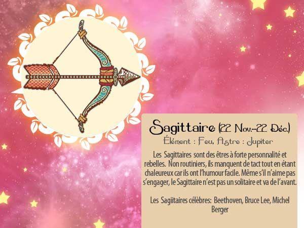 L'automne appartient aux Sagittaires ! Mais tous les moments c'est bon pour leur montrer qu'on pense à eux... avec une carte horoscope que voici par exemple :p http://www.starbox.com/carte-virtuelle/carte-horoscope/carte-horoscope-sagittaire