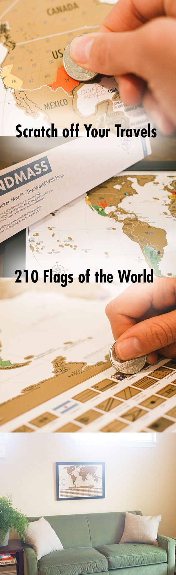 Our Travel Tracker Wold Map includes 210