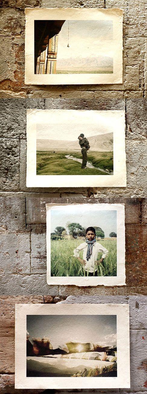 #FOTOGRAFIA #VIAJE #INDIA #TIBET #RETRATO #CROWDFUNDING Ejemplos de recompensas (fotos impresas sobre papel hecho a mano en Nepal) - In her Eyes es un proyecto fotográfico de viajes, un viaje en moto de 6 meses por la India, para ir a la búsqueda de una pequeña nómada tibetana retratada hace 5 años que el fotógrafo quiere reencontrar para ayudarla, darle su foto y volver a retratarla.  Crowdfunding Verkami: http://www.verkami.com/projects/10097-in-her-eyes/