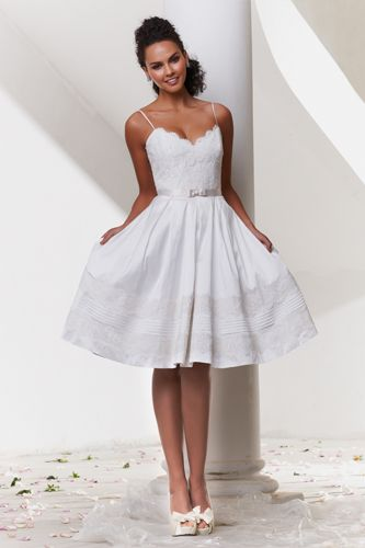 short white embroidered dress with spaghetti straps wedding spring summer