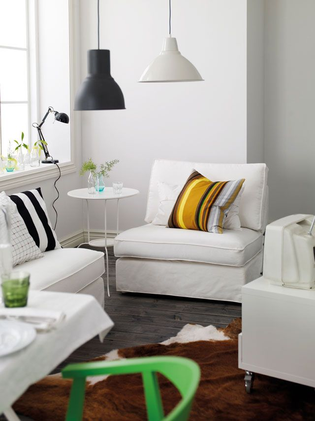 Switch Up The Colour Scheme Of Your Room By Simply Swapping Cushion Covers Like STOCKHOLM Ikea 2014Ikea