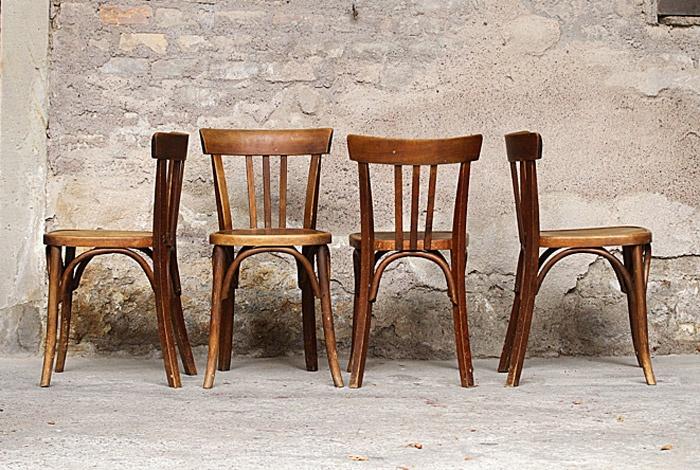 Chaises de bistrot anciennes en bois pinterest for Chaises bistrot anciennes