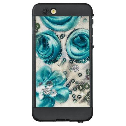 46 Floral Theme Pastel Traditional Turquoise LifeProof NÜÜD iPhone 6 Plus Case - shabby chic unique special diy