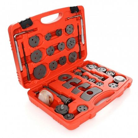 Zestaw do naprawy, wyciskania tłoczków hamulcowych 35 el. + walizka