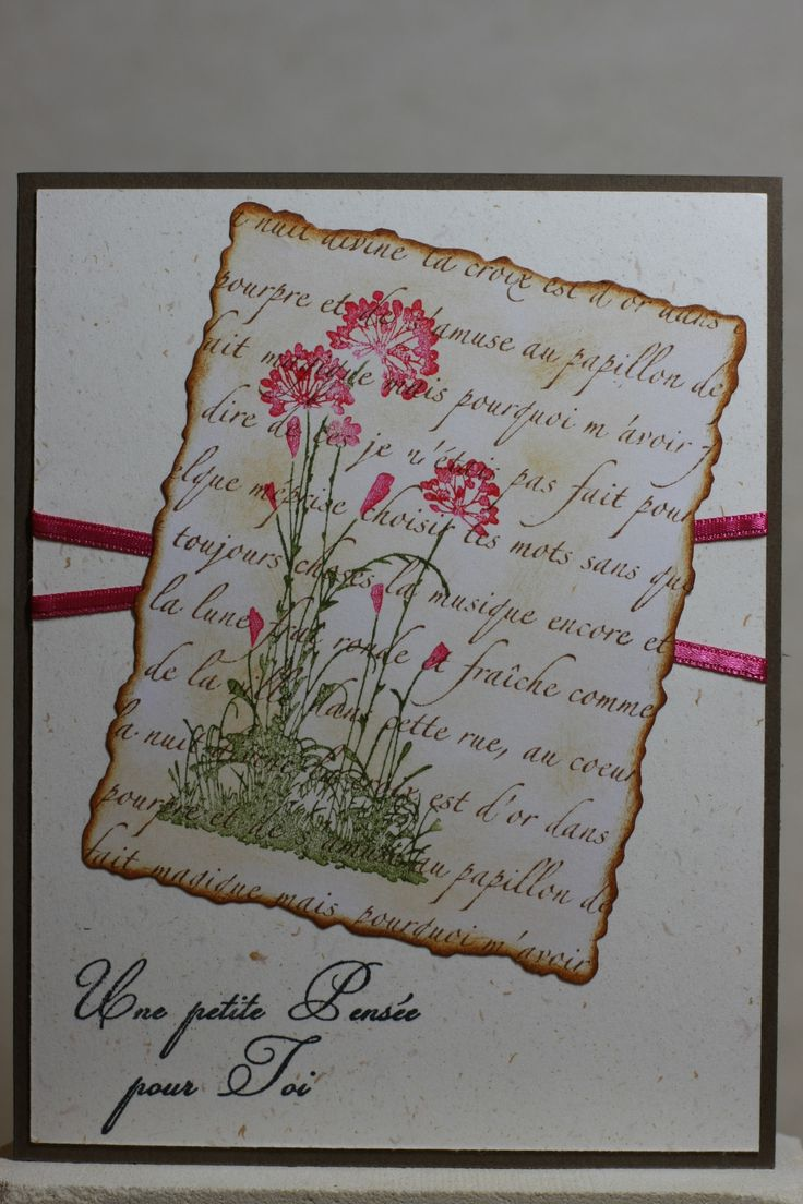 Serene Silhouettes Stampin'up, La petite française C3 005 EE, Impression Obsession French Text CC151, Deckled rectangles large Spellbinders