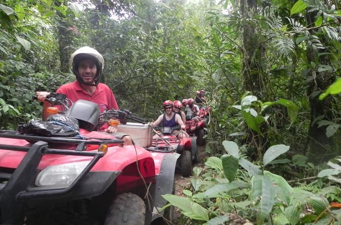 ATV Tour from Guanacaste Ride your own ATV or share an ATV with a friend and ride together through the dry forest canopy. Guides will fit you with helmets, give safety instructions and accompany you along the tour. Experience Costa Rica in a unique way as your guide points out animals, flora and fauna along the way. Ground transportation is provided from most Playa Hermosa, Playas del Coco, Playa Panama, Playa Ocotal and Playa Flamingo-Conchal area hotels. You will be picked ...
