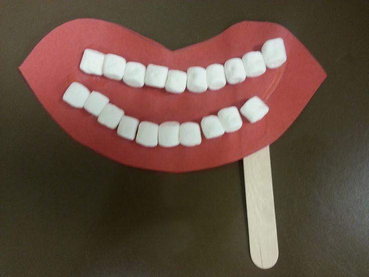 #Dental Health and Hygiene Preschool craft for #children.
