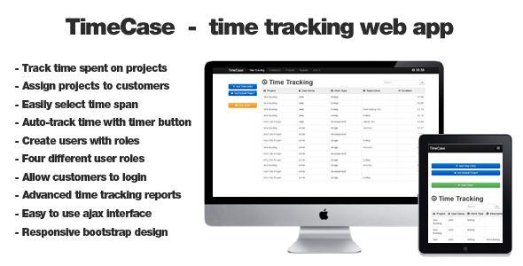 TimeCase - time tracking web app