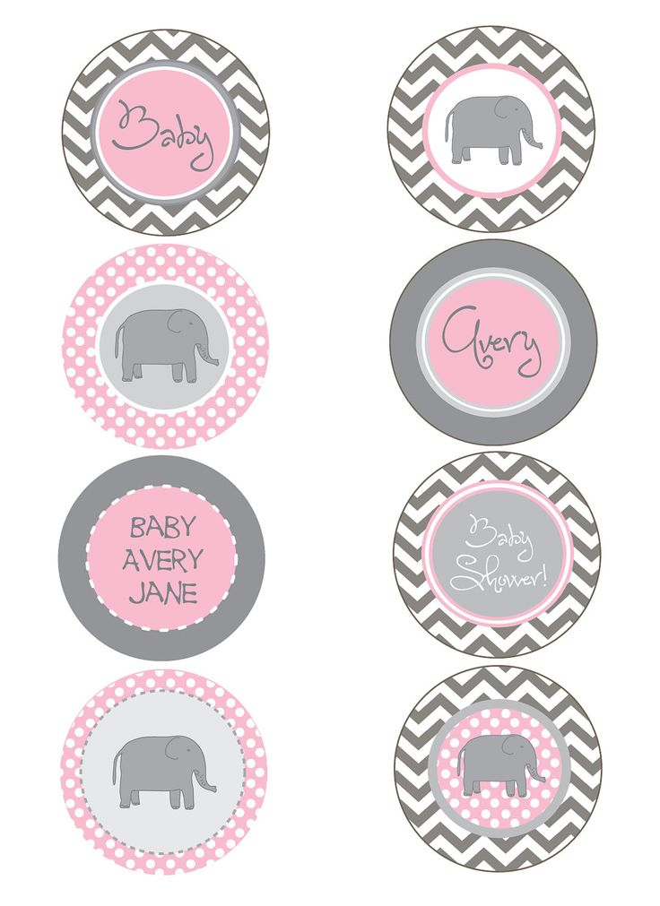 pink and grey baby shower elephant pink and gray chevron baby shower