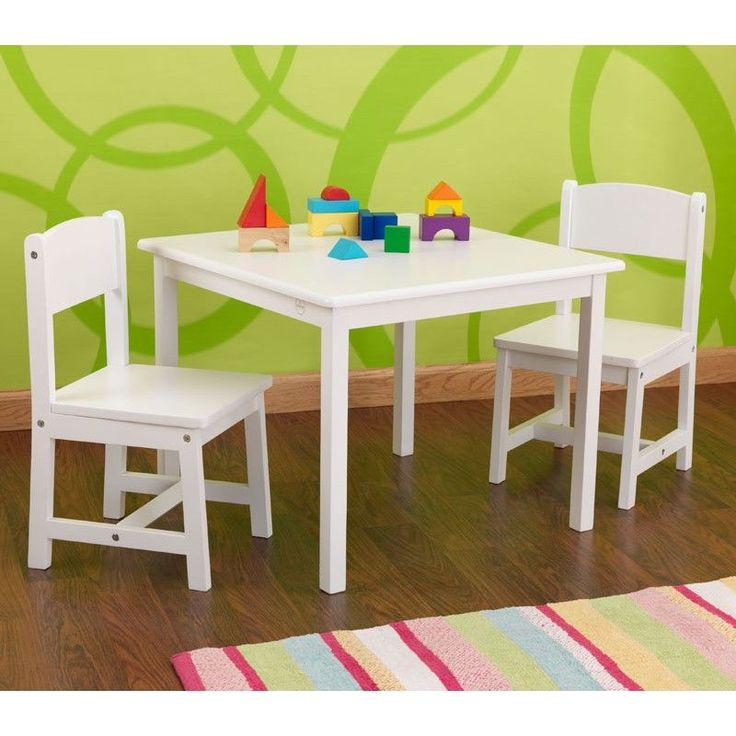 conjunto de mesa y dos sillas para nios y nias en madera de la marca kidkraft