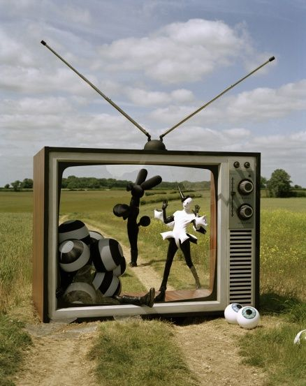 """""""Gareth Pugh & His Models In Giant TV"""" from """"Tales of the Unexpected"""" 