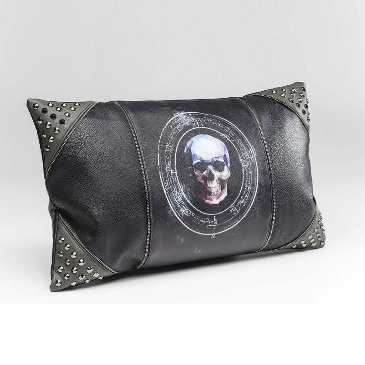 Cuscino 3D teschio 30x50x5cm Cuscino rettangolare con teschio e borchie. Stile grintoso ed estremamente alla moda